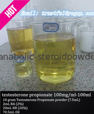 China Injectable Testosterone Steroids Testosterone propionate 100mg / ml for bodybuilder supplier