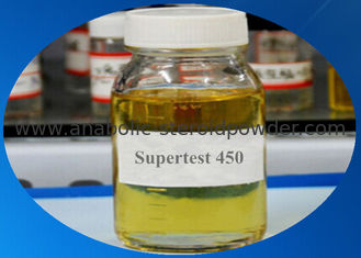 China Injectiable Anabolic Steroids Supertest 450 Mg/Ml Pre-mixed Yellow Liquid For Muscle Building supplier