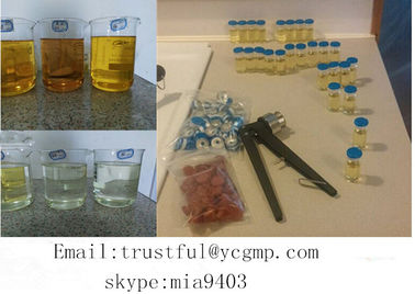 China Semi Finished Tri Test 400 mg / ml Injectable Testosterone Compound Oil For Bodybuilding distributor